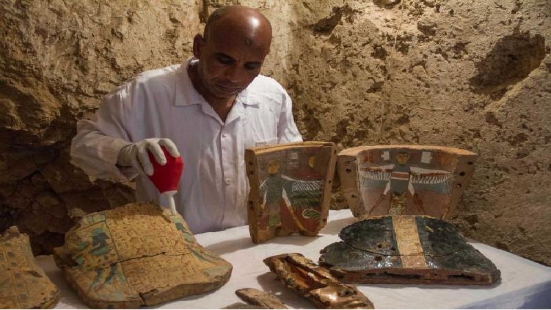 อียิปต์นำมัมมี่และวัตถุโบราณแสดงต่อสื่อ